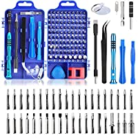 Precision Screwdriver Set, Apsung 110 in 1 Professional Screwdriver set, Multi-function Magnetic Repair Computer Tool Kit Compatible with iPhone/Ipad/Android/Laptop/PC etc (Blue) Ã'Â