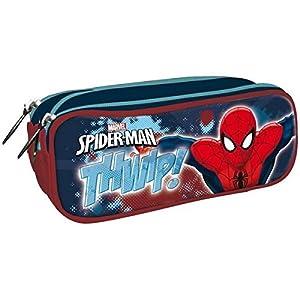Spiderman- Portatodo Triple Cremallera 85x220x90mm, Color Negro (AST4724)