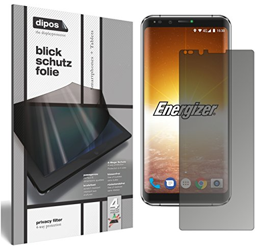 dipos I Blickschutzfolie matt passend für Energizer Powermax P600S Sichtschutz-Folie Bildschirm-Schutzfolie Privacy-Filter