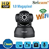 Cámara IP Inalámbrica Sricam 720P de Cámara de Seguridad ONVIF Control de giro / inclinación Vision nocturna Soporte P2P Remote View/Motion Detection