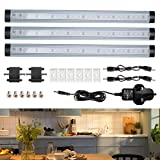 GreenClick Cabinet Light,Touch Control 3 Packs 72LED Stick on Wardrobe Cabinet Closet Under Counter Cupboard Kitchen Shed Garage Lighting