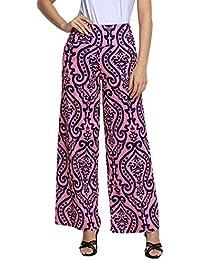 93673beb4d75 Pantalon Large Imprimé Femme,OverDose Été Pantalons Plissé Taille Haute  Sexy ...