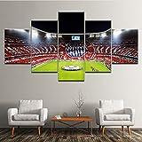 Mddrr Leinwand Malerei Wandkunst Dekor Bilder Für Wohnzimmer Schlafzimmer 5 Panel Modulare Allianz Arena Landschaft Fußball Artwork