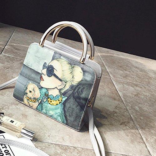 Igemy Mode Frau Einfache Kurier Taschen Frauen Taschen Frauen Umhängetasche Gray