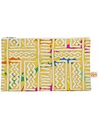 """Kess interno de 12,5x 21,6cm Dan sekanwagi """"líneas y zigzag"""" todo bolsa–Amarillo"""