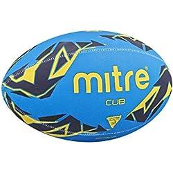 Mitre Cub Ballon d'entraînement de rugby 4 panneaux Bleu/Marine/Jaune Taille 3