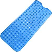 Tosnail Extra Long Non-slip Environmental TPR Rubber Bath Mat Shower Tub Mat with Suction Cup100x38CM (Home & Garden)