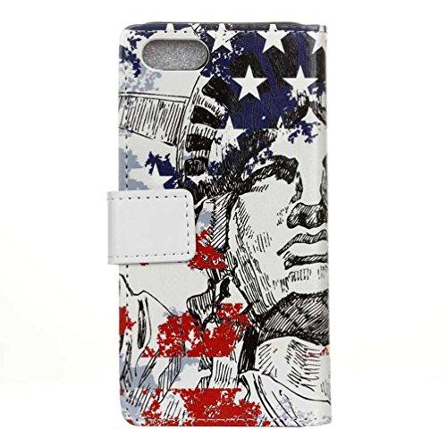 Coloré Motif PU Cuir portefeuille Housse Etui pour iPhone 7 Plus (5,5 pouces) Case Coque Protection Flip Cover avec carte de crédit Slots (KW12#) KW20#