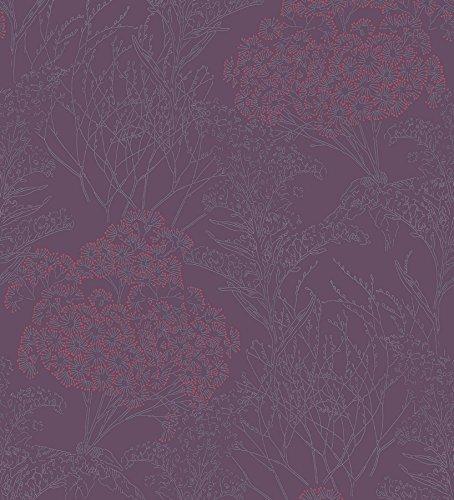 Papel pintado morado y plata jueves lowcost - Papel pintado color plata ...