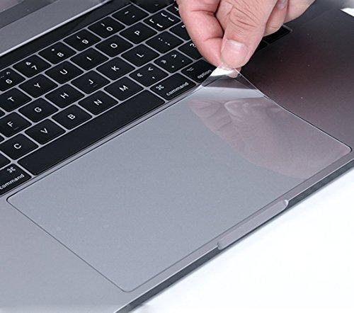 (2Pack) Kratzfest Trackpad Schutzfolie Cover Haut mit Klar Folie Touch Pad Displayschutzfolie MacBook Pro 33cm mit Touch Bar oder Nicht Touch Bar Modell A1706, A1708Ultra Clear (Des Das Macbook Touchpad)
