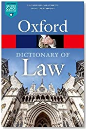A Dictionary of Law (Oxford Quick Reference)