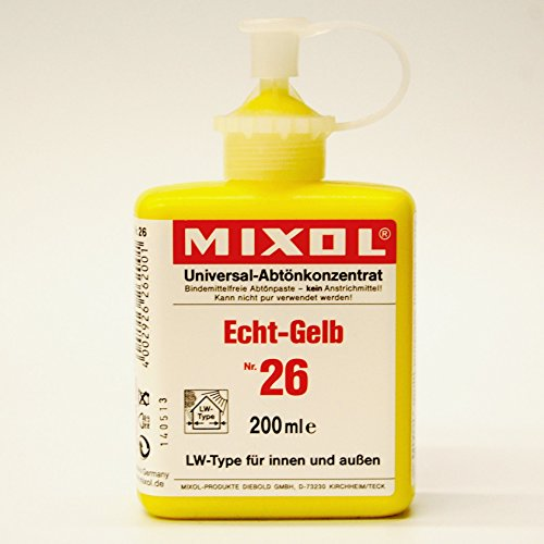 Mixol 200ml Nr. 26 Echt-Gelb LW-Type Universal Abtönfarbe Konzentrat