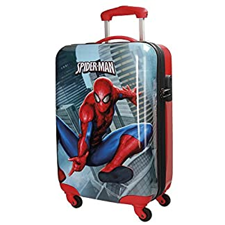 Spiderman City Equipaje Infantil, 55 cm, 33 Litros, Multicolor