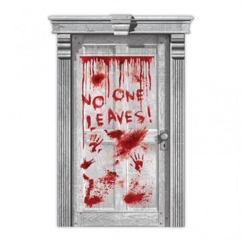 Amscan Unheimliche Operation No One Blätter Tropfendes Blut Tür Poster Dekoration