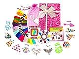 KRAFTZLAB DIY Armband Kit für Mädchen - Ultimatives Set Freundschaftsarmbändern zum Selbermachen in einer schönen Geschenkbox - Freundschaftsarmband Fäden, Buchstabenperlen und mehr, alles inklusive