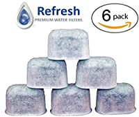6-Pack - KEURIG Water Filter Replacement, Universal Fit Charcoal Filters - for Keurig 2.0 and Older Coffee Machines