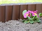 Rasenkante - Beetumrandung - Gartenpalisade Maxi in Dunkelbraun 2,1 m