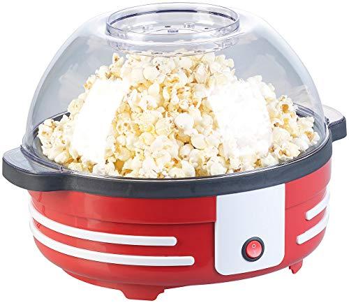 Rosenstein & Söhne Popcorn-Maschine Cinema: Retro-Popcorn-Maschine mit Rührwerk und Antihaftbeschichtung, 850 Watt (Profi-Popcorn-Maschine)