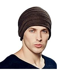 Kenmont Automne Hiver Homme chaud 100% coton Bonnet extérieure chapeau Crâne souple à capuchon