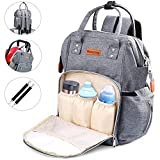 Baby Changing Backpack Diaper Bag Multi-Function Nappy Changing Bag Waterproof Large Capacity Mummy