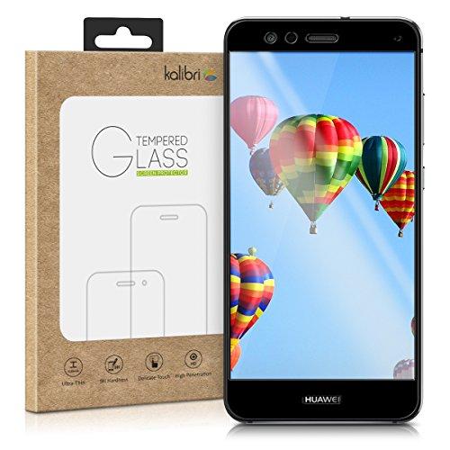 kalibri-Echtglas-Displayschutz-fr-Huawei-P10-Lite-3D-Schutzglas-Full-Cover-Screen-Protector-mit-Rahmen-in-Schwarz