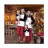 Baywell Weihnachts Schlafanzüge Familie Pyjamas Set Familien Outfit Mutter Vater Kind Baby Nachtwäsche Langarm Homewear Kinder Weihnachts Geschenke