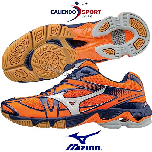 Mizuno Mizuno Schuhe Volley Herren - Wave Bolt 6 MD - v1ga1765 - 02 - orangeclownfish/White/bluedepths-46.5