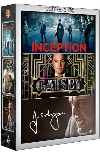 Coffret Leonardo DiCaprio - Inception + Gatsby le magnifique + J. Edgar