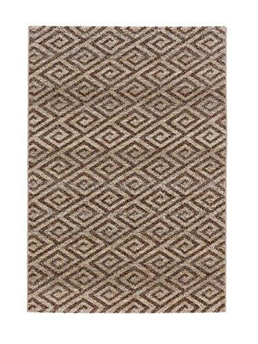 Teppich Carpi - 6872-152-006 - beige - 60 x 110 cm - Vorleger, Läufer, Gallerie, Teppich - Der Webteppich Carpi setzt sich mit natürlichen Farben und stilvollem Design in Szene. Das Garn ist besonders weich und sorgt für ein angenehmes Laufgefühl. Interessantes Rauten-Muster in Beige-Braun - Natürlichen Läufer Teppich