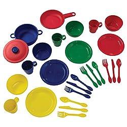 KidKraft Cookware Playset, Multi Color (27 Pieces)