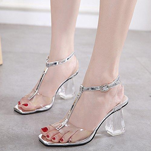 mit groben sandalen weibliche titel hochhackige schuhe transparent an die schuhe crystal schuhe nicht schuh die silbernen
