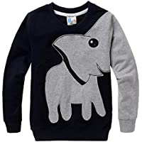 Little Hand® Bambini Elefante Graphic Felpa Sportive 3-8 anni
