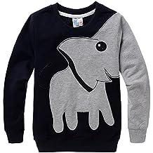 Little Sorrel Sudaderas Niños de Mangas Largas Cartoon Elephant Sweatshirt Camiseta Tops