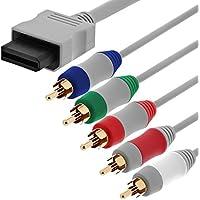 Fosmon HDTV Composant Composite RCA YPbPr Audio Video AV Câble (High Definition 480p) pour Nintendo Wii et Wii U