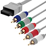 Fosmon HDTV Composant Composite RCA YPbPr Audio Video AV Câble (High Definition 480p) pour Nintendo Wii et Wii U