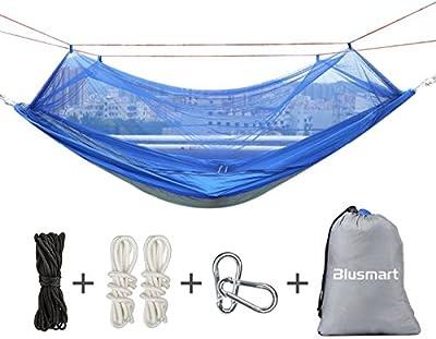Hamaca mosquitera, Blusmart Hamacas Colgantes Portatil Paracaidas Nylon para Jardin, Camping y de Viaje