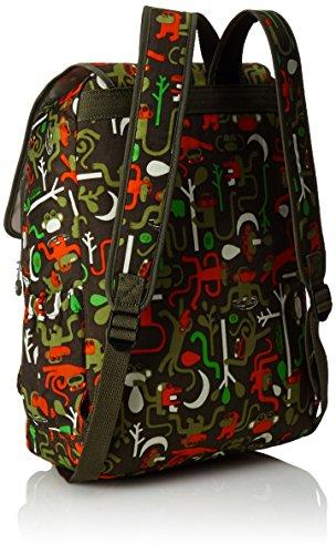 Kipling - HARUKO - Grand sac à dos - Jungle Dot Play - (Multi-couleur) Monkey Frnds Kh