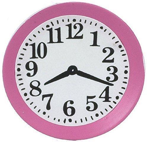 Puppenhaus Miniatur Zubehör Küchen Wanduhr pink 5045