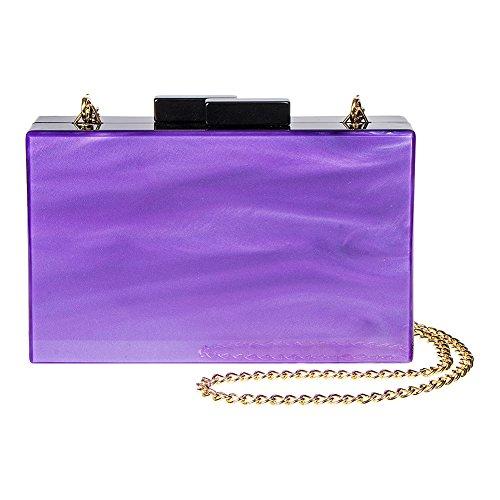 Blu Banana Swirl Box Frizione Tasche Violett