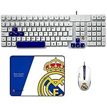 Mars Gaming - Pack De Teclado, Ratón Y Alfombrilla Gaming del Real Madrid Baloncesto (