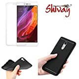 #9: Shivay® Xiaomi Mi Redmi Note 4 Back Cover And Tempered Glass Combo Offers (clear glass + black back cover)