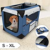 Klappbare Transportbox für Hund Katze & Kleintier in den Größen S - XXXXL wählbar inklsuive Polster