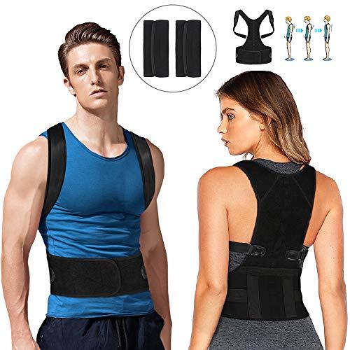 Nasharia Geradehalter zur Haltungskorrektur Verstellbare Rücken, Rückentrainer eine Gesunde Haltung für haltungsbedingte Nacken,Rücken und Schulterschmerzen für Damen und Herren