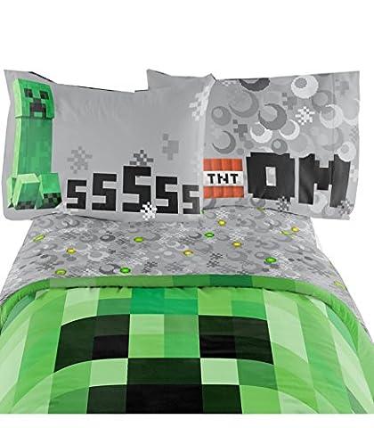 Minecraft Bedding Set Excellent Designed Multicolored Kids Comfortable Single Sheet Set 66