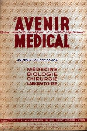 AVENIR MEDICAL [No 8] du 01/10/1954