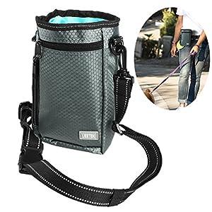 UEETEK Pochette de dressage de friandises pour chiens, facile à transporter, pour animaux de compagnie, gâteries, trousse à déchets intégrée, avec 1 sacoche pour sacs à main, avec ceinture ou bandoulière pour 3 façons de porter