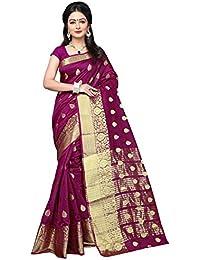 Women's Purple Colour Banarasi Silk Designer Weaving Saree By Brand Maroosh