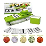 5 in 1 Compact Twinzee – Ideal for slicing fruit and vegetable Mandoline Vegetable Slicer – Slices, Grates, Easy