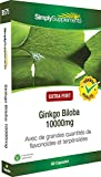 SimplySupplements Super Strength Ginkgo Biloba 10,000mg|Supports Short-term Memory|60 Capsules | Blister Pack by SimplySupplements