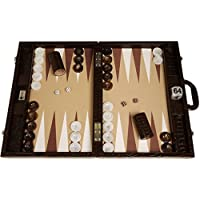 Wycliffe Brothers Tablero de Backgammon para torneos Diseño de cocodrilo en marrón con campo beis - Gen III